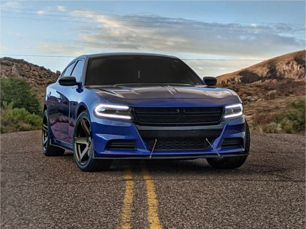 A 2018 Dodge Charger SXT running Factory Reproductions Fr77 wheels in 20x9.5 +15
