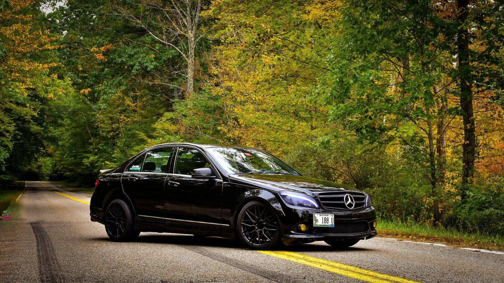 Mercedes C300 on BC Coilovers