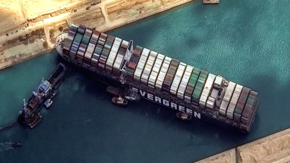 BBC News Suez Canal Bloackage