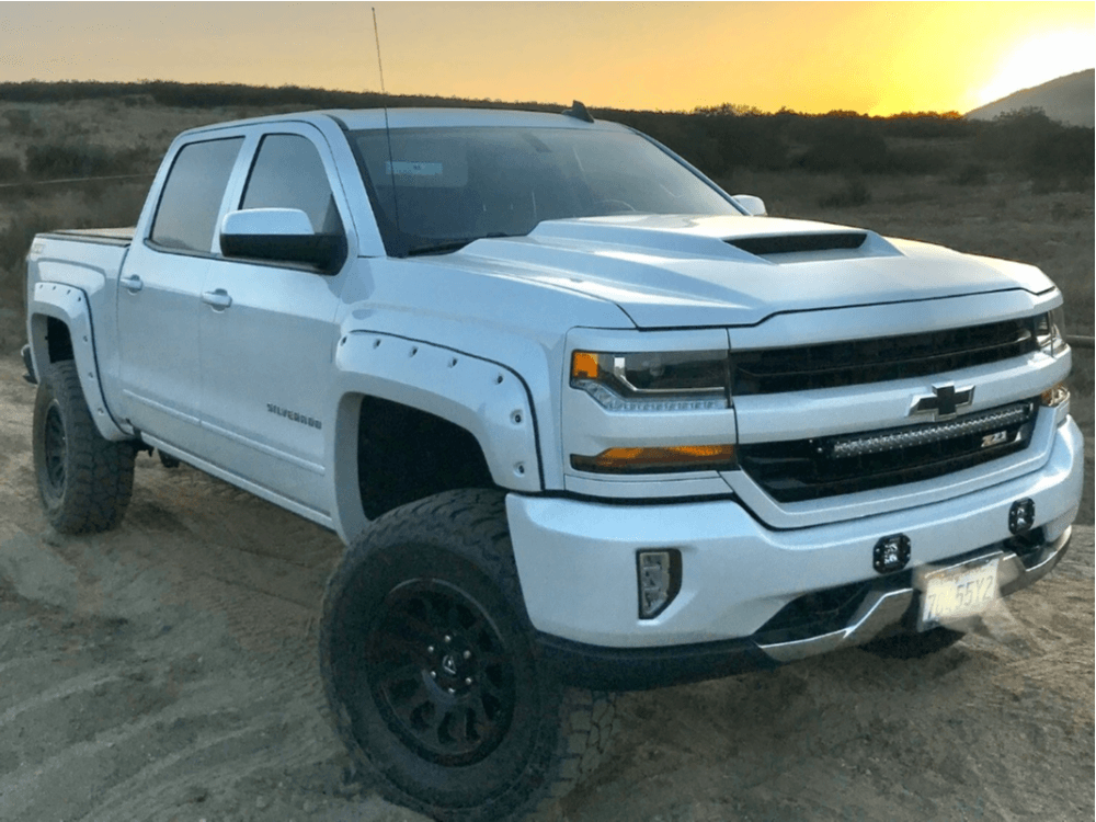 Lifted White Silverado