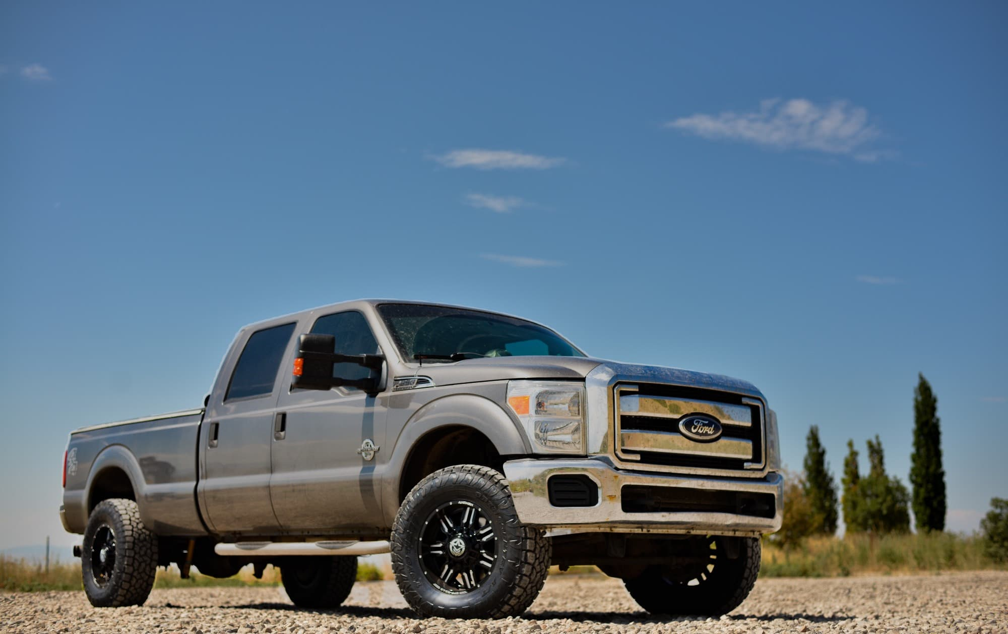 A Ford F-150 Super Duty running the Anthem Off-Road Equalizer