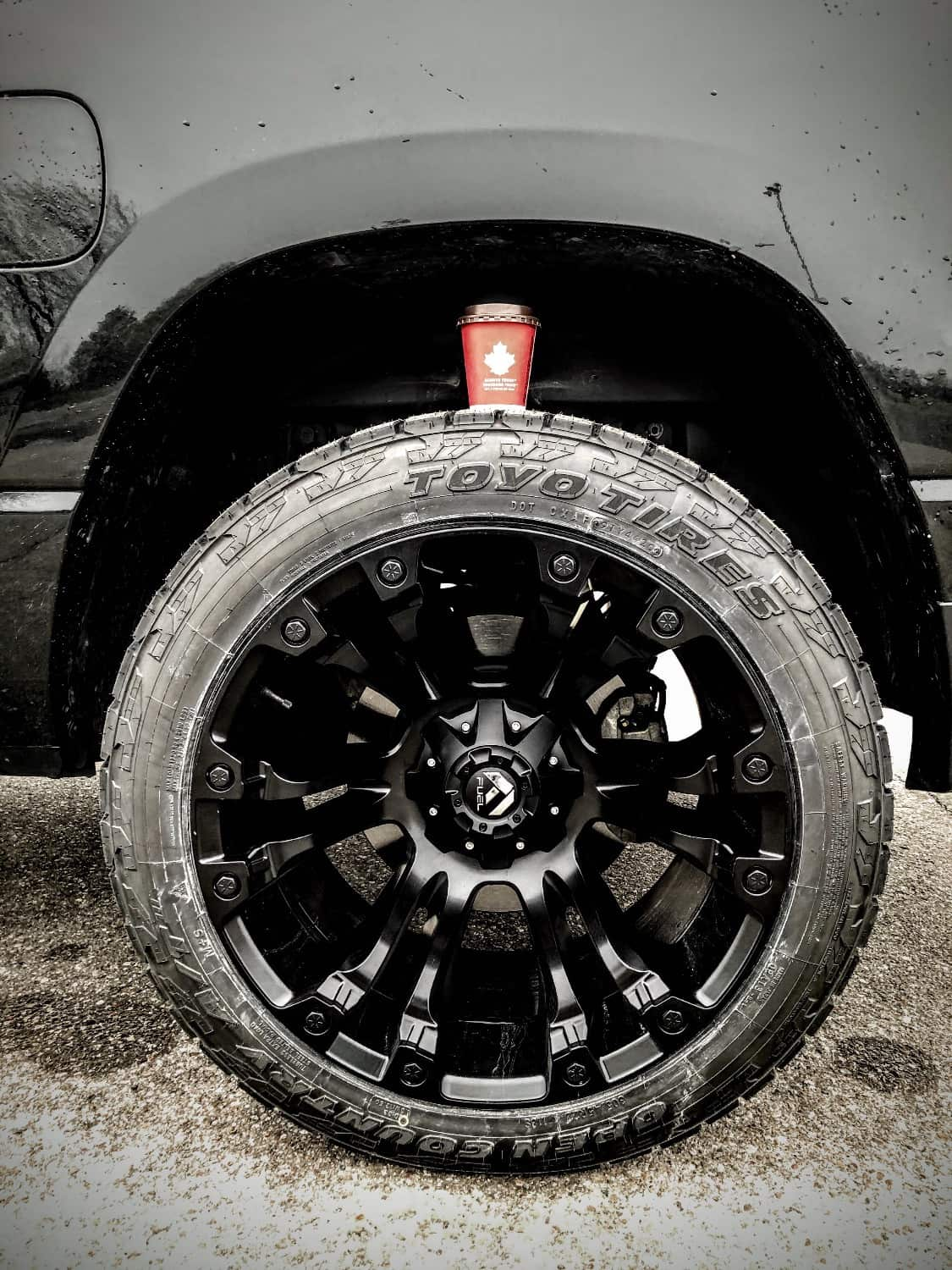 Another Tire shot of a 2020 Ram 1500 running some Toyo Open Country A/T III tires